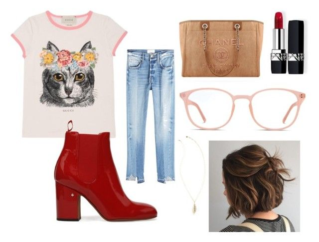 """Untitled #51"" by manjap on Polyvore featuring Gucci, Frame, Chanel, Christian Dior and Lilly Pulitzer"