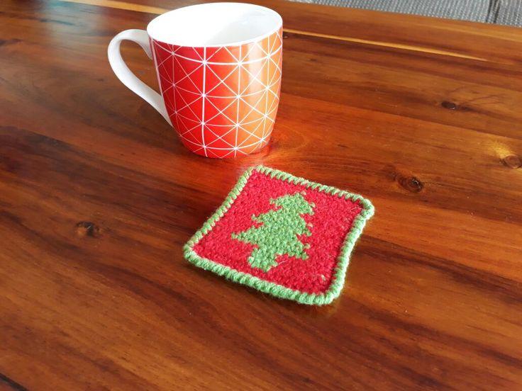 Christmas Tree Coaster – Crochet Creations