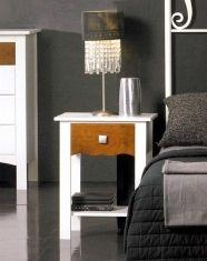 Tables de nuit en bois: modèle MONACO (avec 1 tiroir.)