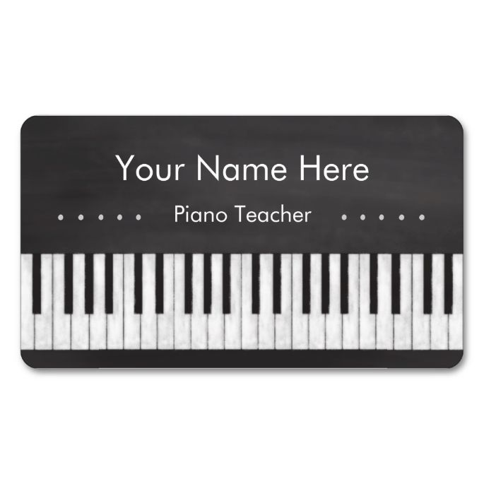 Elegant and Modern Chalkboard Piano Teacher Double-Sided Standard Business Cards (Pack Of 100). This is a fully customizable business card and available on several paper types for your needs. You can upload your own image or use the image as is. Just click this template to get started!