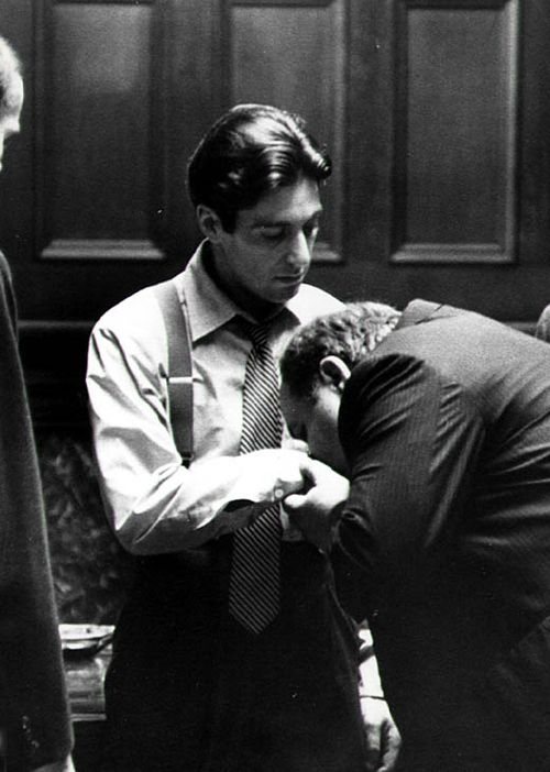 The Godfather, directed by Francis Ford Coppola.  http://www.amazon.com/La-TAVOLA-Adventures-Misadventures-American/dp/1463618123