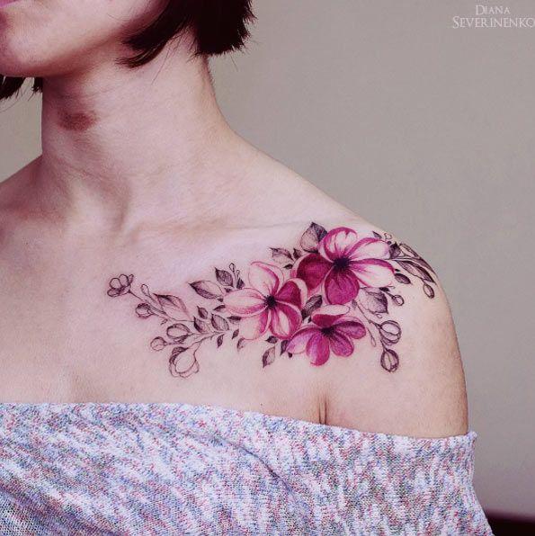 Exceptionnel Oltre 25 idee originali per Tatuaggi di fiori sul braccio su  CN87