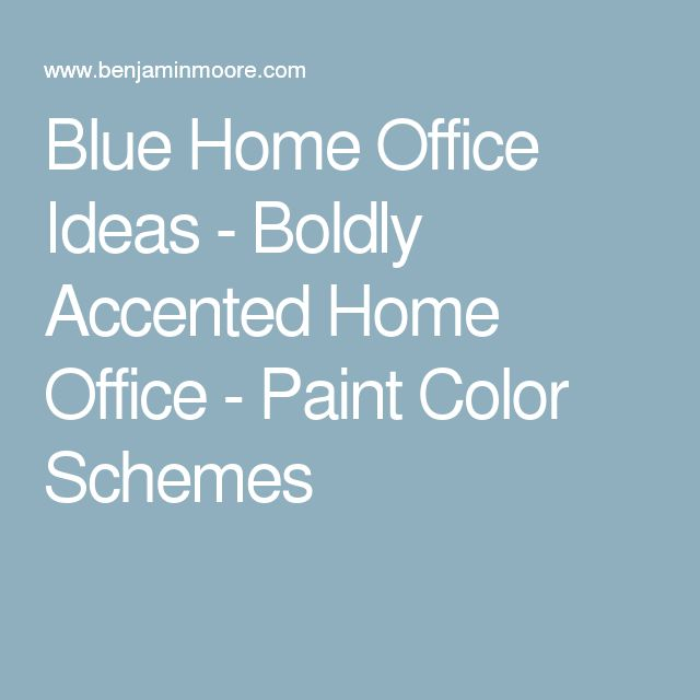 Blue Home Office Ideas - Boldly Accented Home Office - Paint Color Schemes