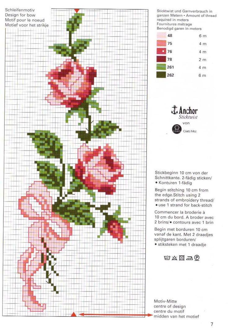 Patrones de punto de cruz flores - Imagui