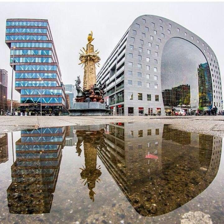 Markthal, Rotterdam reflection