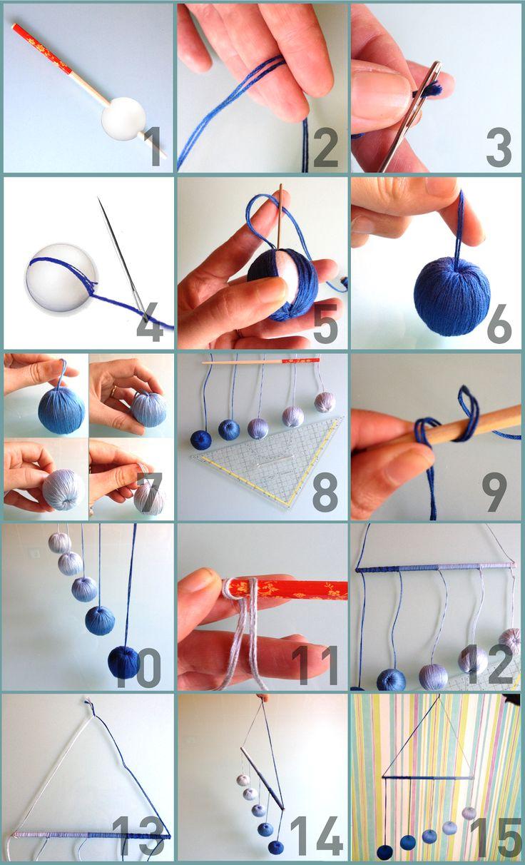 MATERIAL NECESSÁRIO                5 bolas de esferovite cada com 3,5cm de diâmetro.   1 Régua   1 Tesoura  1 Agulha 7cm  10 nov...