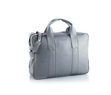 #Brødrene Szara torba na laptopa z paskiem na ramię