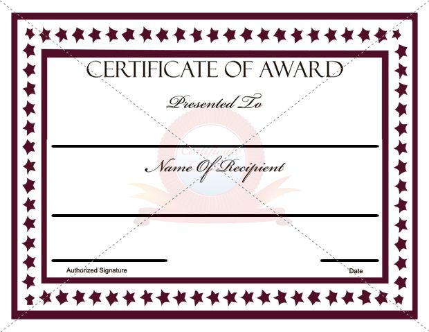 39 best AWARD CERTIFICATE TEMPLATES images on Pinterest Award - First Aid Certificate Template