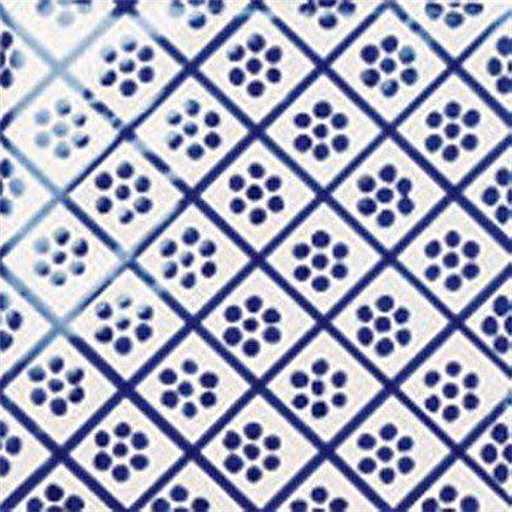 Flis Höganäs Pombalino Augusta Blank Blå/Hvit 15x15  - Veggfliser - Fliser