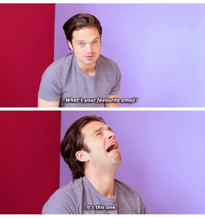 Wow... Just when you think he can't get any more hilarious. Ta-da! Sebastian Stan everyone.