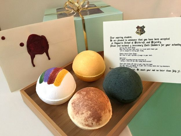 """Assorted bath bombs for the perfect soak. Even Moaning Myrtle won't be able to disturb you!* 