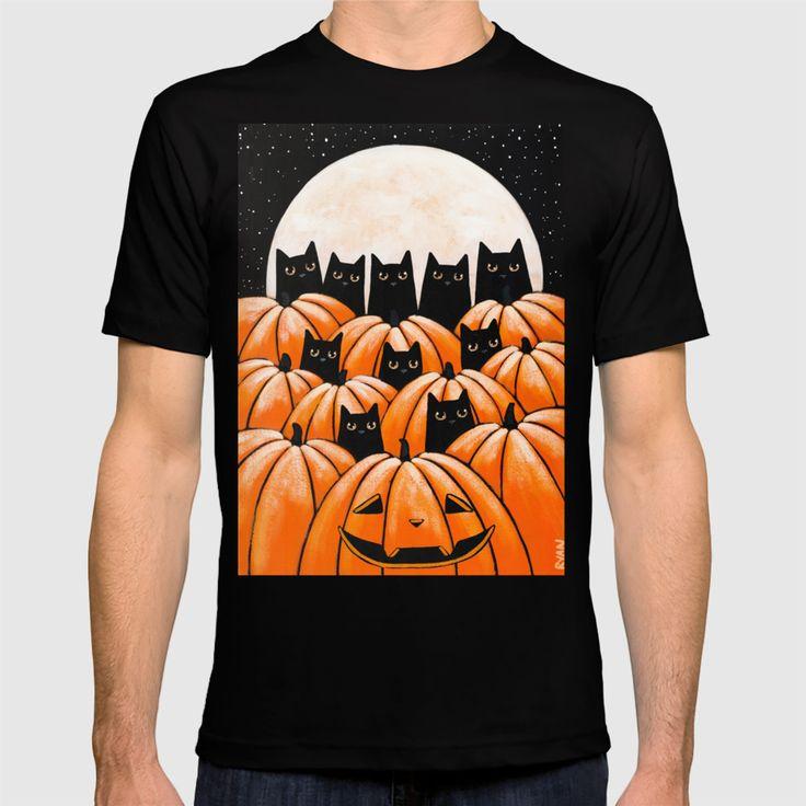Black Cats In The Pumpkin Patch T Shirt By Kilkennycat Shirts T Shirt Black Cat
