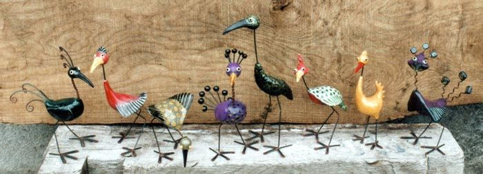 Several silly imaginary bird sculptures by Jen Robinson   ...more ceramic creations can be seen on her website...