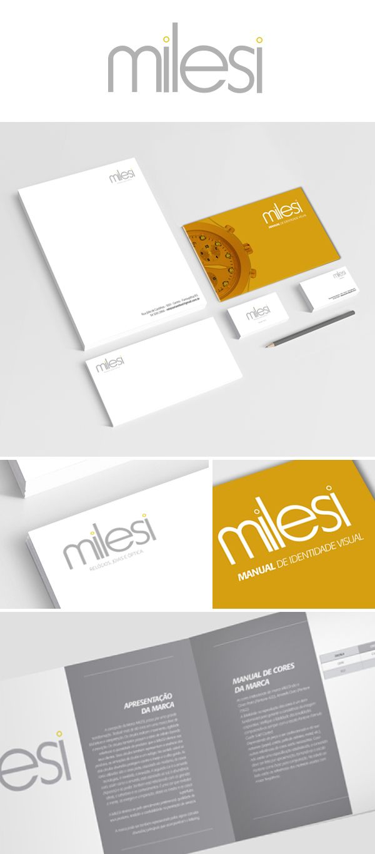 Branding e Material de expediente Relojoaria Milesi.