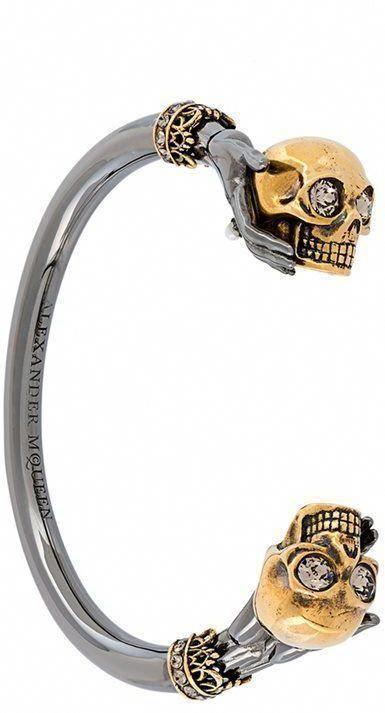 e4b86e882e1c Alexander McQueen twin skull bracelet  AlexanderMcQueen