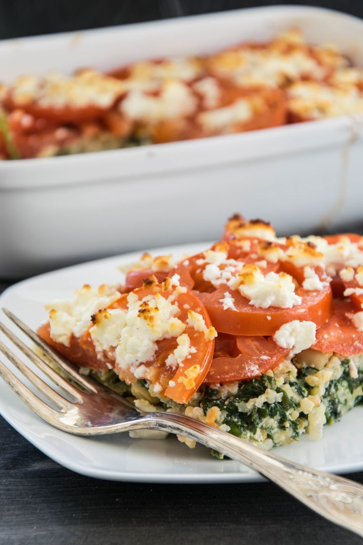 Bulgur chickpea casserole with tomatoes and feta   – Rezepte