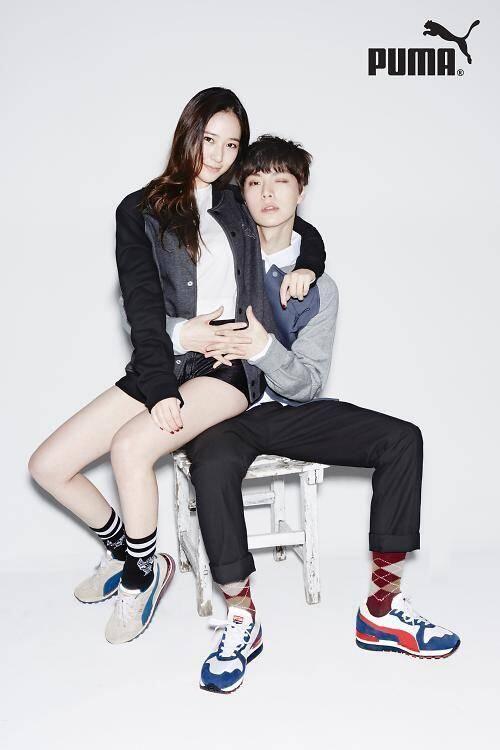 f(x)'s Krystal and Ahn Jae Hyun for Puma Spring 2014 Ad Campaign