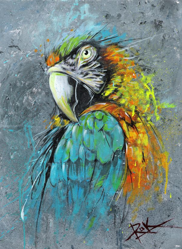 parrot abstract by puritanic.deviantart.com