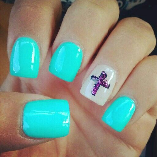 Cross. - The 746 Best Nails Images On Pinterest Nail Design, Cute Nails And