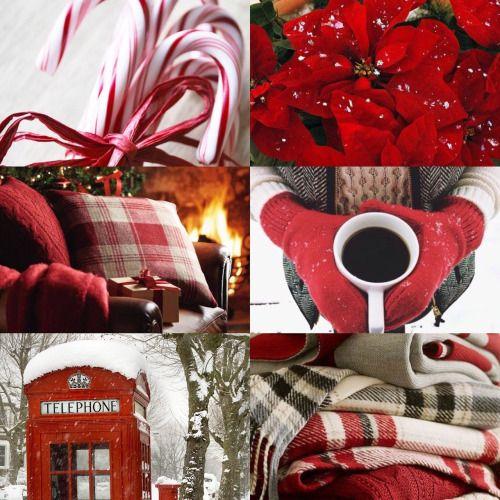 Harry Potter Aesthetics → (46/∞) → Gryffindor + Christmas