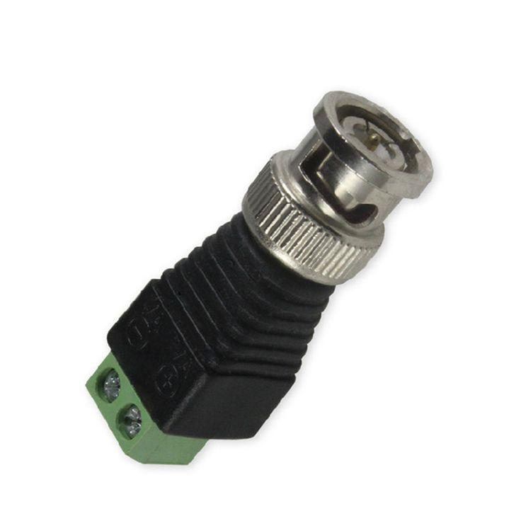 10 unids CAT5 Coaxil al Cctv BNC Macho Conector Plug Adpater para cable de Extensión CCTV Sistema de Vigilancia de Cámaras de Seguridad