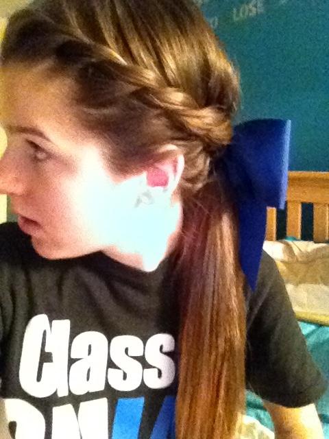 Cheer hair. Twisted pony. i likey :)