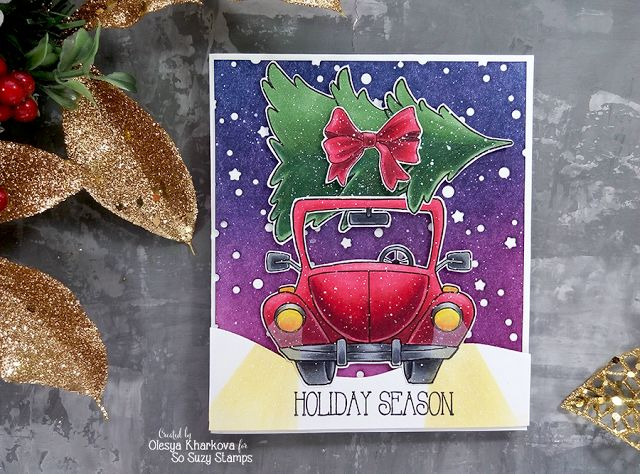 As if by magic by Olesya Kharkova: Holiday Season card ft So Suzy stamps