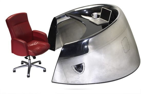 MotoArt lands in your workplace with Douglas DC-8 Cowling Reception Desk