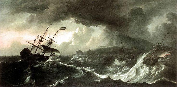 Бакхёйзен, Людольф - Корабли, стремящиеся в шторм к земле. Голландские художники