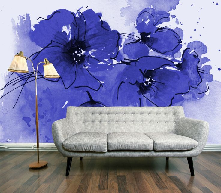 Nice This Weeku0027s Wallpaper Wednesday Offering Is The Amazing Indigo Poppies Wall  Mural From DigetexHome. Love Photo Gallery