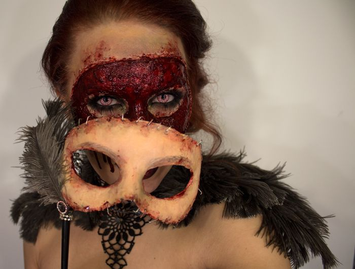 halloween masquerade masks fx makeup from sandra holmbom i am so doing this for halloween this year - Scary Halloween Masks Images