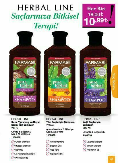 Farmasi Bitki özlü şampuanları bir de siz denemek ister misiniz.