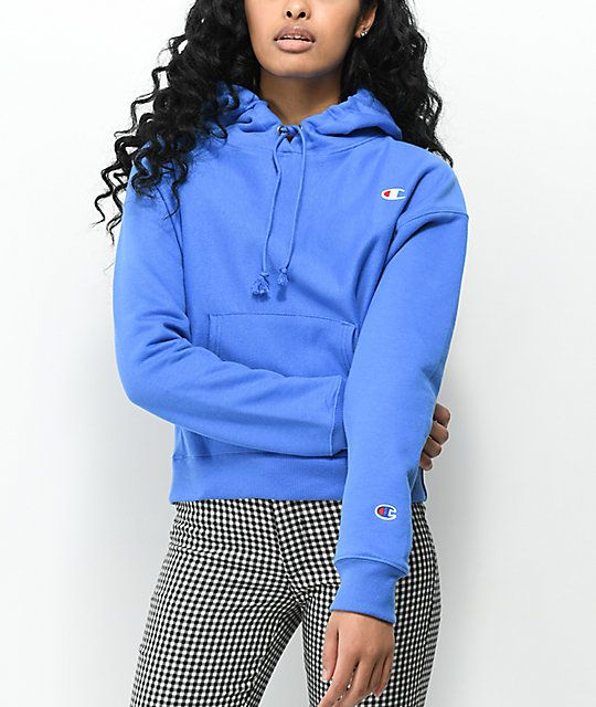 63ef461a7e47 Champion Reverse Weave Groove Blue Hoodie in 2019
