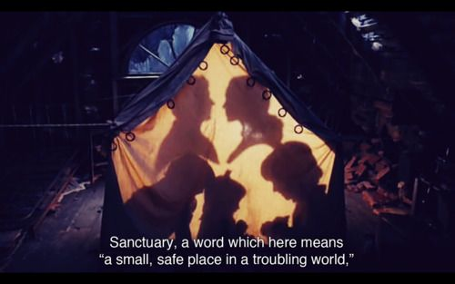 Sanctuary.  Everyone has got to have one. :) #lemonysnicket (A Series of Unfortunate Events~ Make a silhouette of our family?)