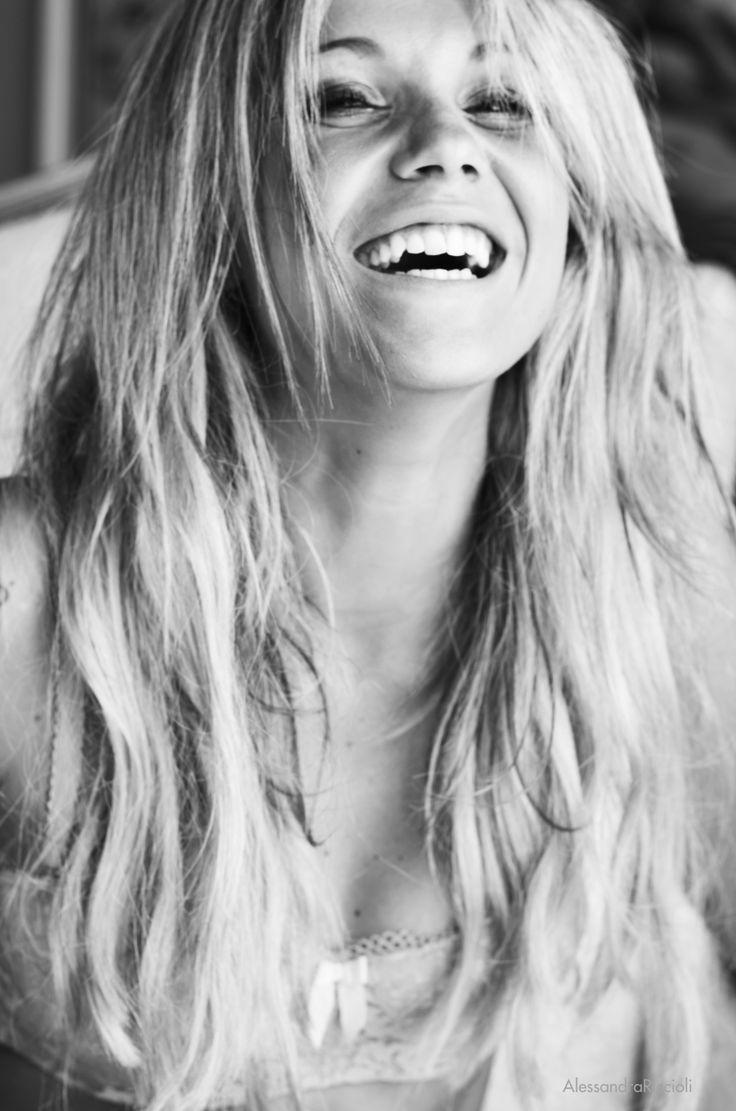 #girl #portrait #blackandwhite #smile #happy #long #hair #pretty #lingerie #italy