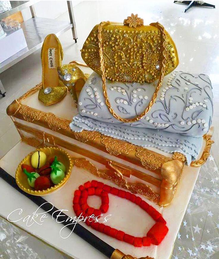 "4,037 Likes, 48 Comments - No.1 Nigerian Wedding Blog (@nigerianwedding) on Instagram: ""Throwback to this gorgeous traditional wedding cake by @theempressgalleria 😍👌🏾! #NigerianWedding"""