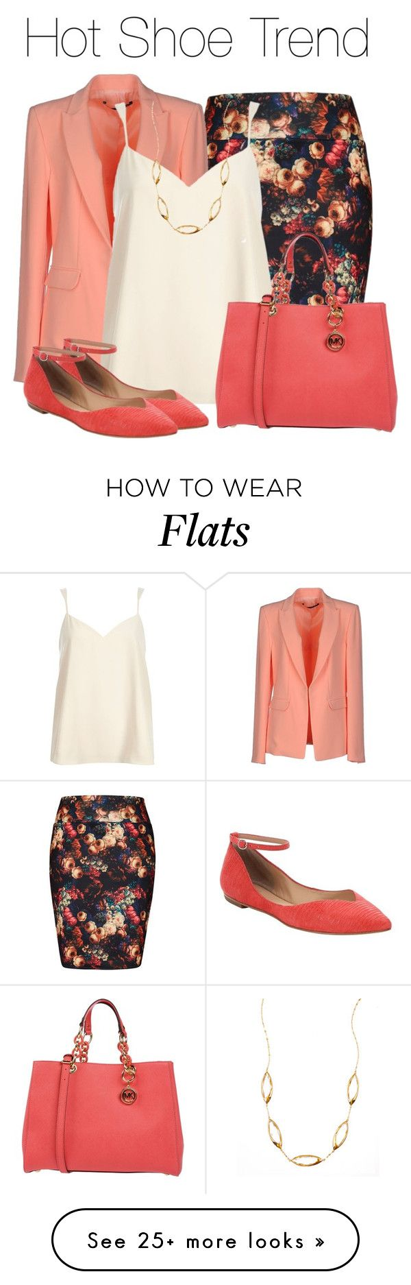 """So Stylish: Ankle Wrap Flats"" by earthlyangel on Polyvore featuring City Chic, Annarita N., River Island, belle by Sigerson Morrison, MICHAEL Michael Kors, Lana, contest and anklewrapflats"