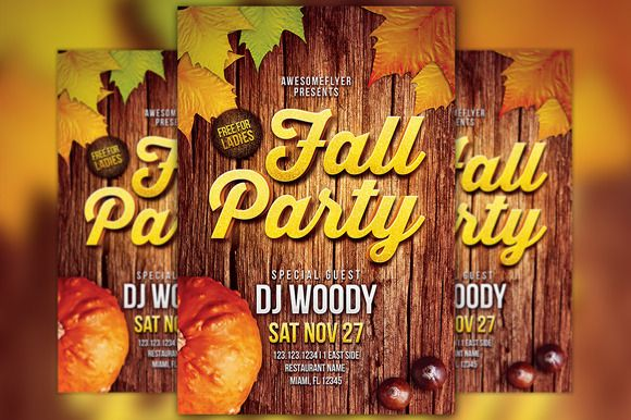 Check out Fall Party Flyer Template by Flyermind on Creative Market