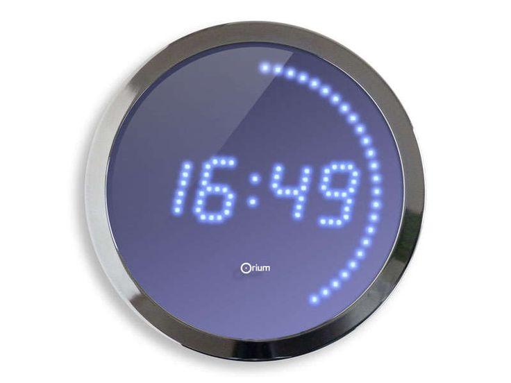 Horloge LED 30 cm LED BLEUE - Vente de Horloge et Pendule