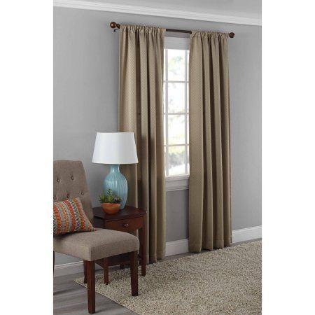 walmart room darkening curtains Mainstays Diamond Room Darkening Therma Panel Curtain Panel  walmart room darkening curtains