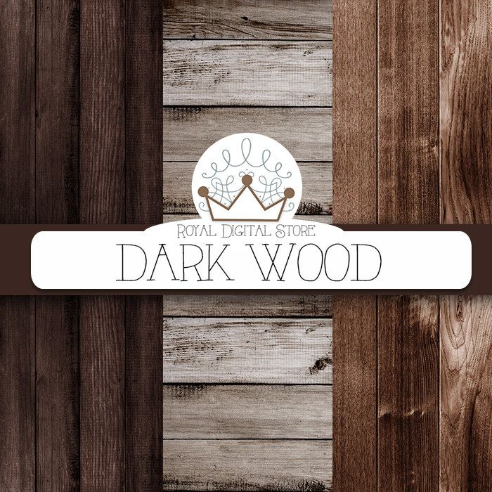 "Wood digital paper: ""DARK WOOD"" with wood background, wood texture, rustic wood, wood scrapbook paper, burlap for planners, scrapbooking #woodtexture #shabbychic #digitalpaper #scrapbookpaper #distressedwood #planner"