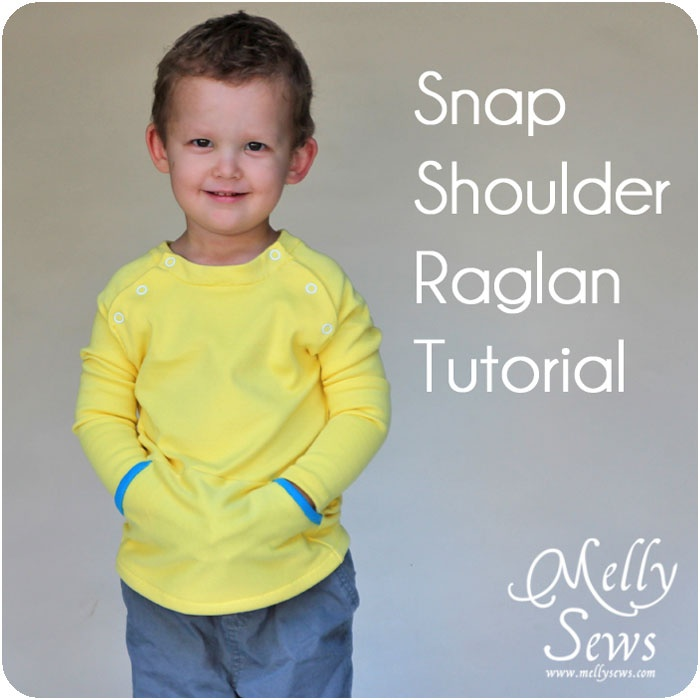 Button Shoulder Raglan - Melly Sews. Make for little boys (sans buttons for T)