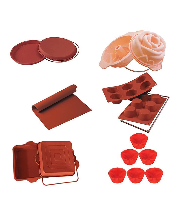 Another great find on #zulily! Red & Pink 11-Piece Silicone Bakeware Set by Silikomart #zulilyfinds