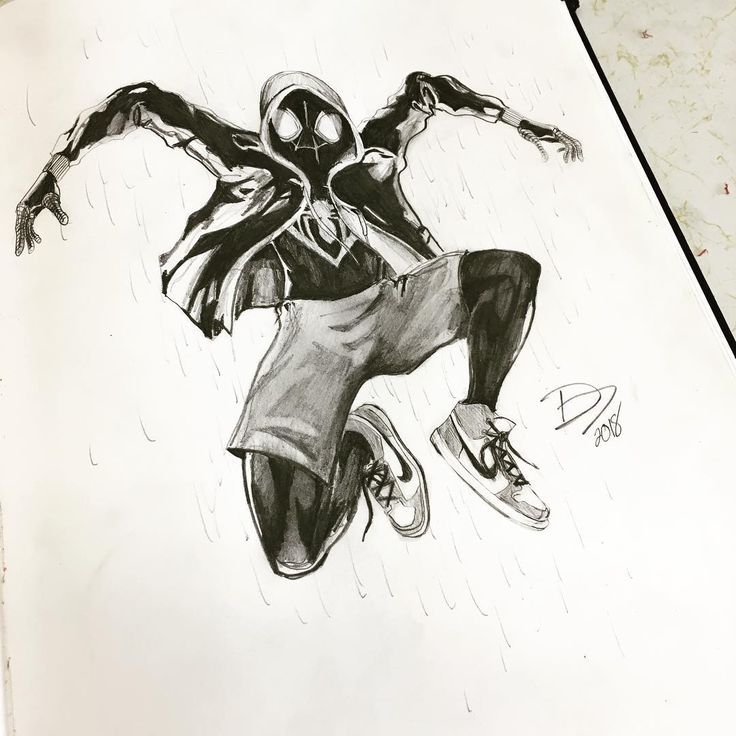 Man I Love Breaks From School Miles Morales Sketch Done