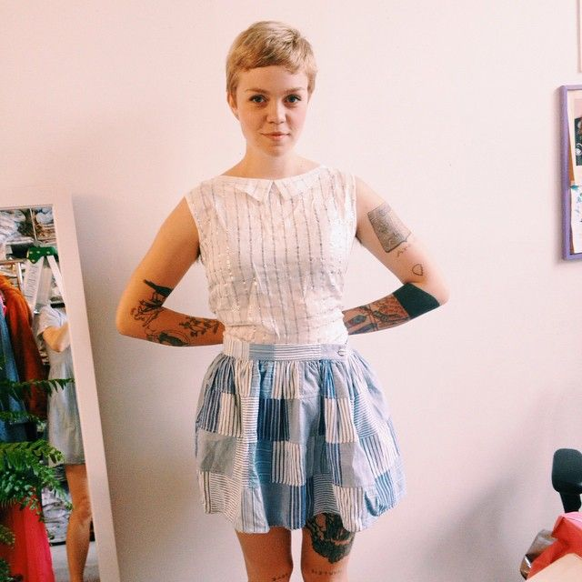 So fresh! Meredith Graves wearing The World Is Ours shirt and Cindy skirt xx