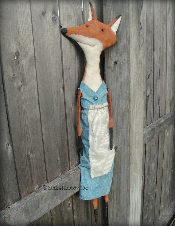 Jackie A Primitive Folk Art Fox Pattern from by thegoodewife, $9.00