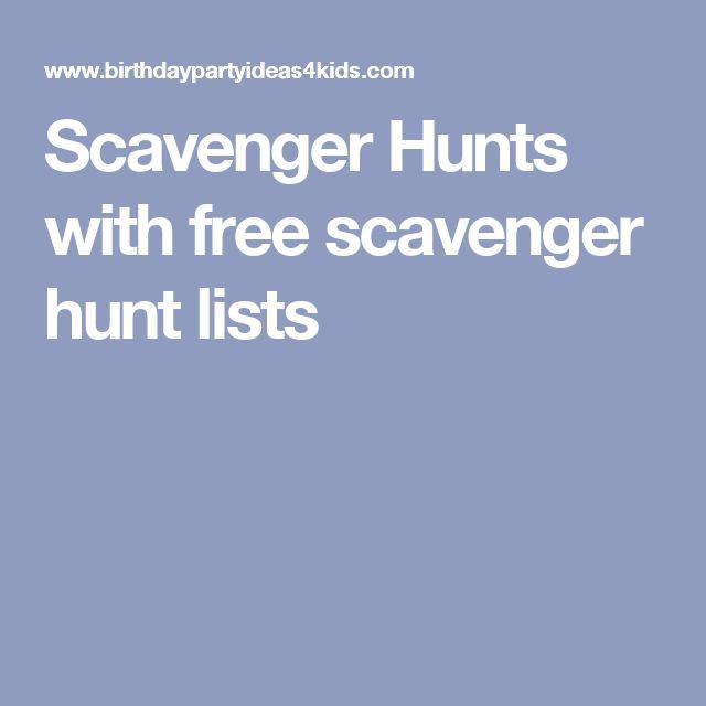 Scavenger Hunts with free scavenger hunt lists