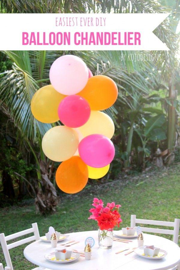 25 best ideas about balloon chandelier on pinterest for Balloon chandelier decoration