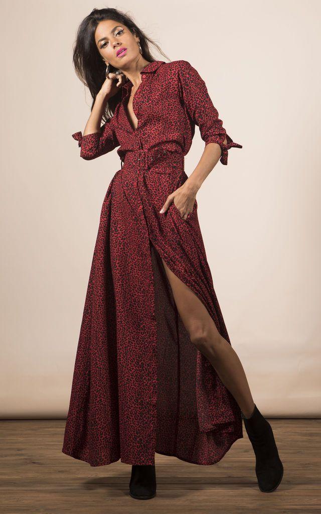 Dove Dress in Red Leopard by Dancing Leopard 1a2112033