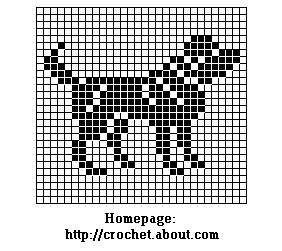 Dog Chart for Filet or Cross Stitch